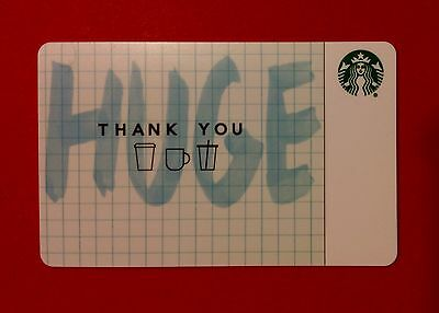 STARBUCKS GIFT CARD /HUGE THANK YOU / + sleeve / Mint Condition / No Cash Value