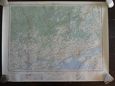 1954 - ANTIQUE Geographic Map KINGSTON, CANADA