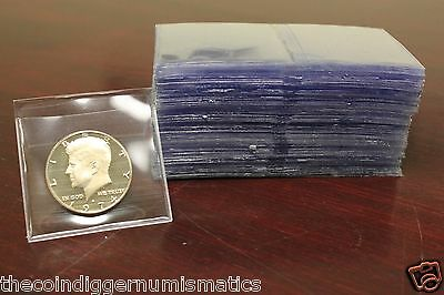 500 2X2 Safe T Flip Coin Holder Submission Non PVC Vinyl Archival Double Pocket