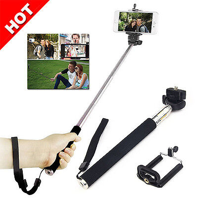 Extendable Handheld Stick Selfie Camera Portable Unipod For iPhone 7 6 6S Plus
