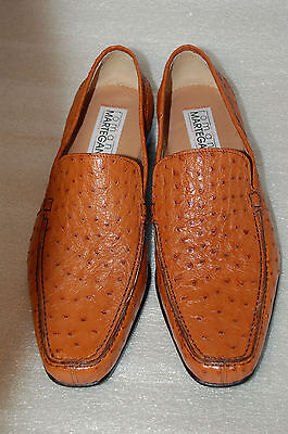 Man - 42½ - 8½ Eu - Mocassin - Genuine Tan Ostrich - Mocassino Struzzo- Lth Sole