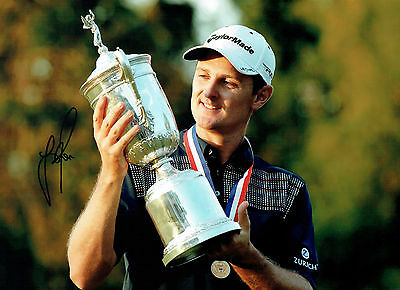 Justin ROSE Signed Authentic Autograph 16x12 GOLF USA Open WINNER AFTAL COA