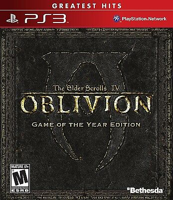 The Elder Scrolls IV: Oblivion Game of the Year GH Version (Playstation 3) NEW