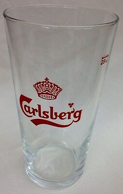 An Old Carlsberg Beer Glass 25 cl - 8 1/2 oz  Excellent Condition