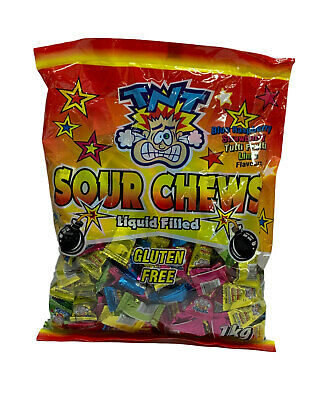 Bulk Lot 200 x TNT Sour Chews Lollies Candy Buffet Party Favors Sweets Sours