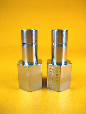 """Parker -  8-4 T2HG-SS -  SS Tube End Female Adapter, 1/2"""" x 1/4"""" (Lot of 2)"""