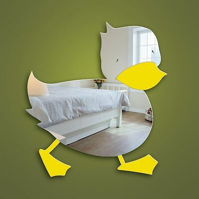Duck Child's Nursery or Bathroom Wall Mirror Decorative Shatterproof and Safe