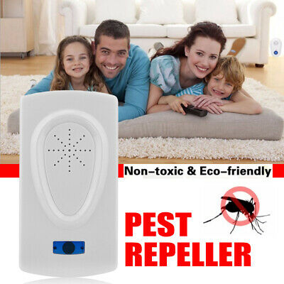 Pest Repeller Electronic Ultrasonic Mouse Rat Mosquito Insect Rodent Control NEW