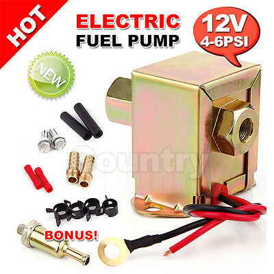OZ Kit Electric Fuel Pump 12 volt Solid State Universal 4 to 6psi 130 LPH Petrol