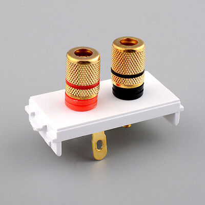 New Banana Jack Socket Binding Wall Outlet Plate Panel Module for Audio Speaker