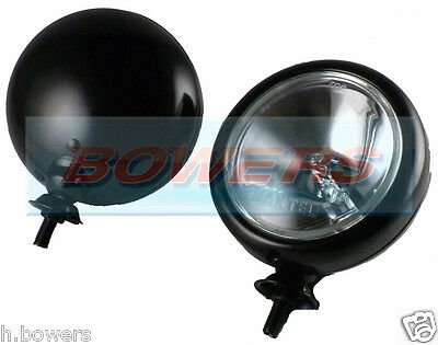 "PAIR OF 2x 5"" INCH CLASSIC CAR BMW MINI BLACK SPOTLAMPS SPOTLIGHTS MAXTEL"
