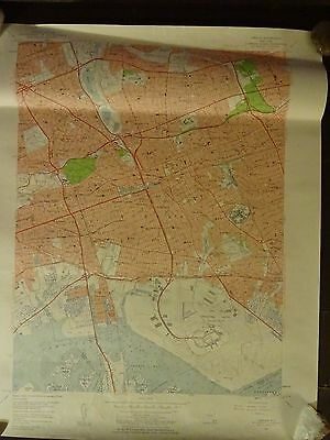 1957 - Map of JAMAICA Quadrangle - New York - Topographic