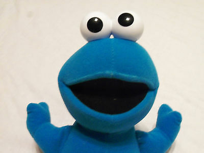 "12"" FISHER PRICE 2002 MATTEL SESAME STREET STUFFED BLUE COOKIE MONSTER DOLL"