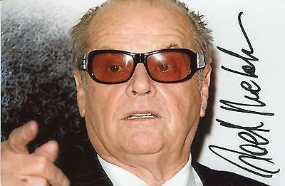 Photo de Jack Nicholson signature autographe E1!!!!!!!!!!!!!!!!!!!!!!!!!!!!!!!!!