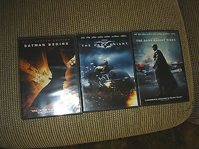 The Dark Knight Trilogy DVD LOT OF 3