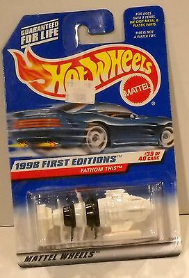 HOT WHEELS MATTEL WHEELS 1998 FIRST EDITIONS COLLECTOR# 682 FATHOM THIS 39 OF 40