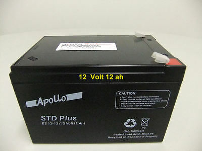 12Ah Scooter Battery - APOLLO Std Plus ES 12V - FREE Express Courier delivery