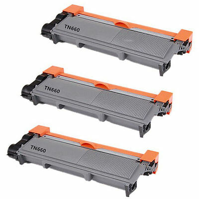 3PK TN660 (TN630) High Yield NON- OEM for Brother  DCP-L2520,L2540,HL2320,HL2305