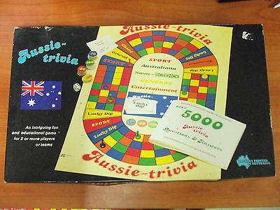 Vintage Aussie Trivia Board Game 100% Comp