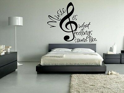 Wall Vinyl Sticker Decals Mural Note Music Sign Words (z020)