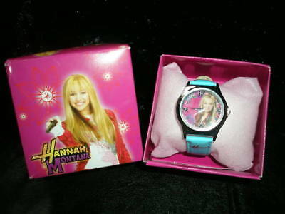 (NEW)HANNAH MONTANA- MILEY CYRUS STAINLESS GIRLS WATCH W/BOX GIFT