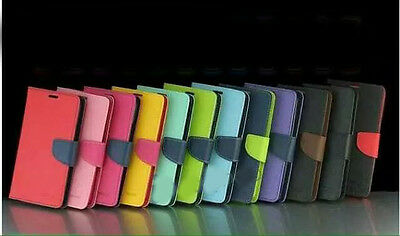 10pcs/Lot Two Tone Wallet Leather Case for Samsung Galaxy S6