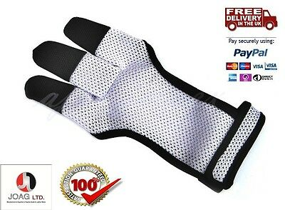 ARCHERY MESH SHOOTING 3 FINGERS GLOVE Archery Mesh Gloves,Leather Free Bow Glove