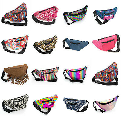 Bum Bag Fanny Pack Travel Waist Festival Money Belt Leather Pouch Holiday Wallet