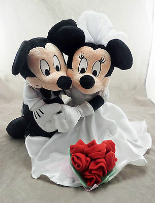 Disney Mickey and Minnie Mouse Wedding Bride Groom Plush Doll Toy NWOT