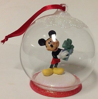 Disney Mickey Mouse Blown Glass Ball Ornament - NEW - Collection Addition