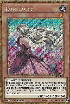 Yu-Gi-Oh Card: Rose Lover - Gold Secret Rare - Pgl2-En003 1St Edition