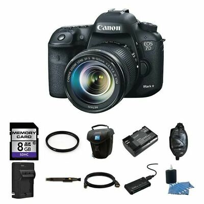 Canon EOS 7D Mark II DSLR Camera w/18-135mm Lens 8GB Complete Kit