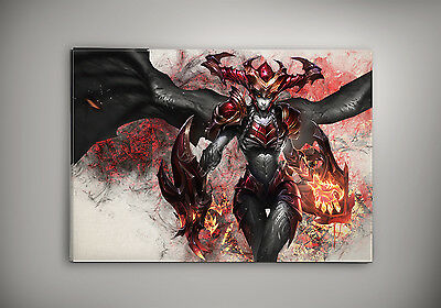 Shyvanna League of Legends watercolor print poster A3 size