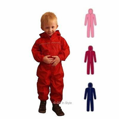 Personalised Regatta Kids Puddle Rainsuit Quality Waterproof All In One Boy Girl