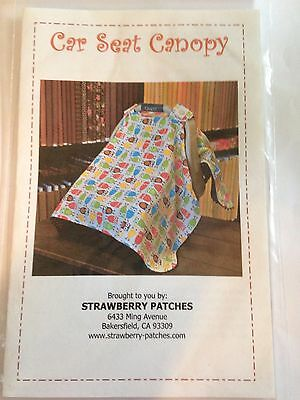 A Must Have Baby Car Seat Canopy Sewing Pattern that Sews Quickly and Easily