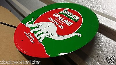 embossed opaline Good Quailty Round Metal dino sinclair Gasoline Motor Oil Sign