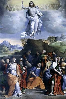 Ascension of Jesus Christ Into Heaven Christian Art Bible Real Canvas Print