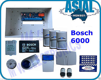 BOSCH ALARM 6000 Kit 3 x Wireless Pet Friendly PIR 2 x Remote Free Programming