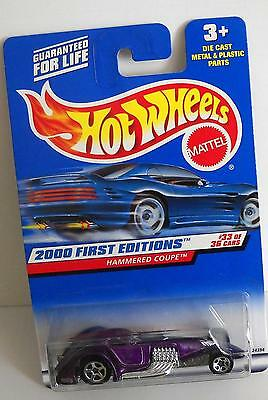 MATTEL HOT WHEELS 2000 FIRST EDITIONS #33 OF 36 CARS #093 HAMMERED COUPE LOT 2
