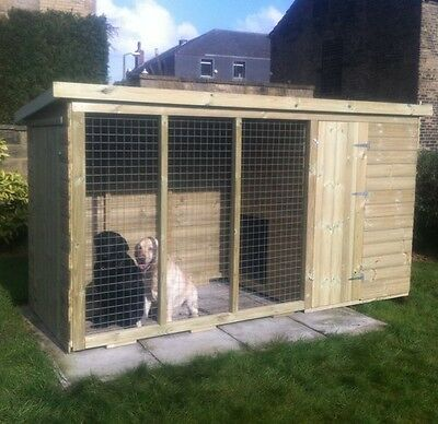 Dog Kennel and Run - Tanalised Timber Strong Pet House