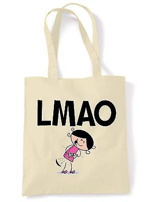 LMAO SHOULDER  TOTE BAG - Laugh My Ass Off Text Language Facebook Twitter