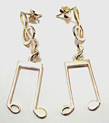Earrings Handmade Music Waves Silver Long 50Mm Platinum By Joller