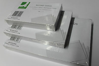 100 Revision Record Index Flash Cards. Q-Connect White Or Silvine Assorted.