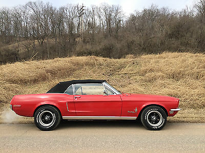 Ford : Mustang Base Convertible 2-Door 1968 ford mustang base convertible 2 door 4.7 l