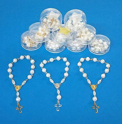 Wholesale Lot of 12 Small Rosary  length 5'' Gold&Silver Color With box