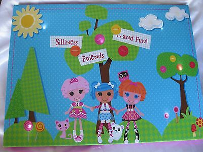"Lalaloopsy Light Up Picture Decoration 16X12"" Pink Blue Green"