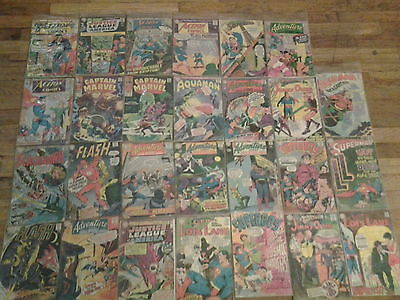 Silver Age DC Action Comics Marvel Mixed Lot of 27 Vintage Comic Books 1960's