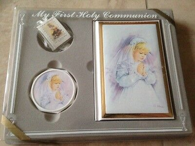 GIRLS MY FIRST HOLY COMMUNION 4 PIECE DELUXE GIFT SET MIB