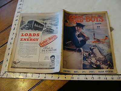 Vintage Magazine: THE OPEN ROAD FOR BOYS; Vol.XXIII March 1941, No. 2