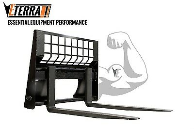 SKID STEER FORKS - ETERRA Brand - HD Rated  Skid Steer Forks - 5500 Lb. Rating